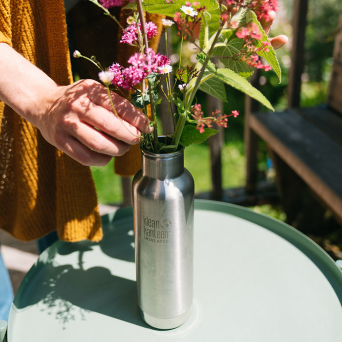Kanteen Bottle with Flowers