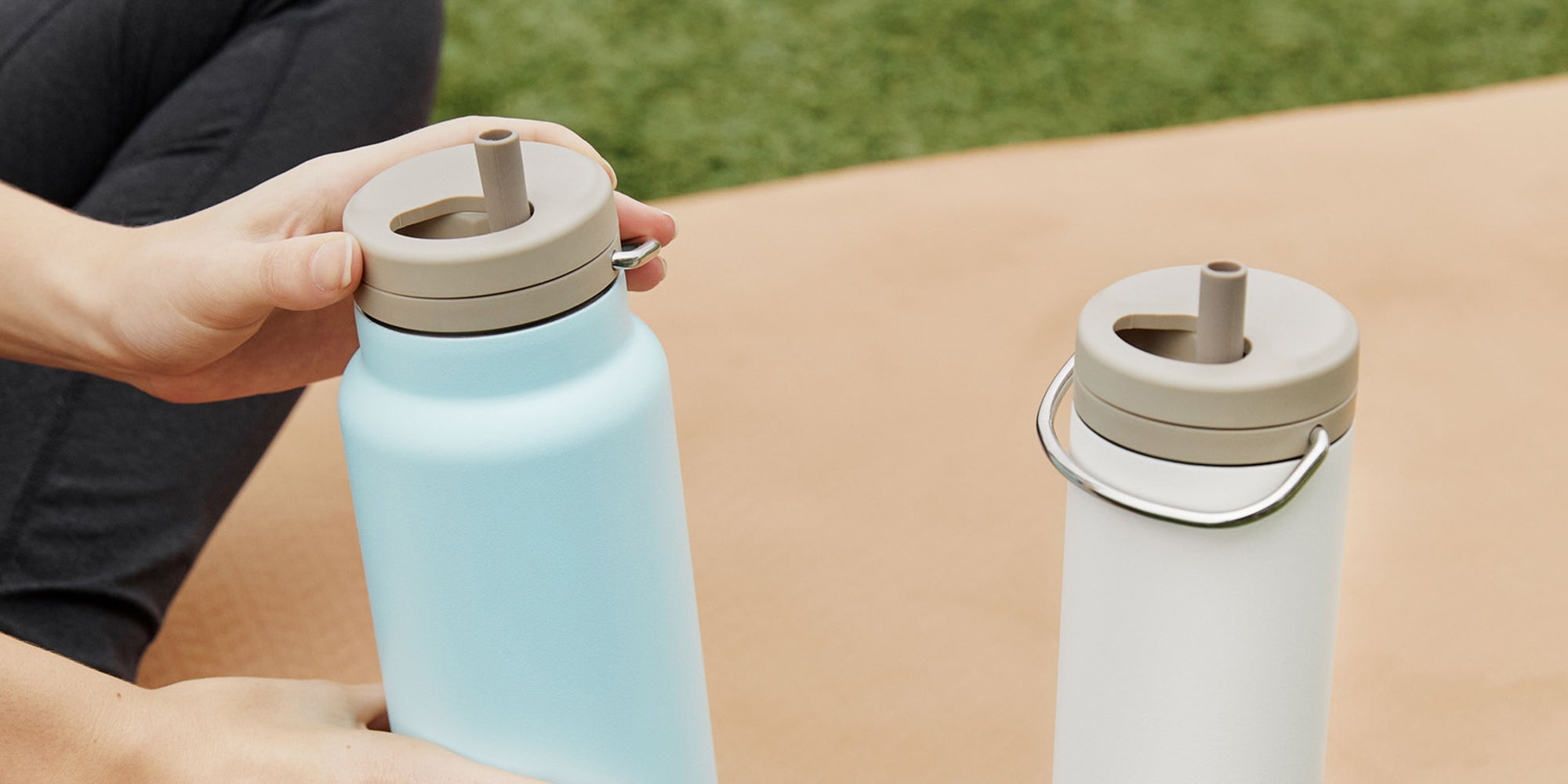 Insulated Water Bottles with Straw Lid