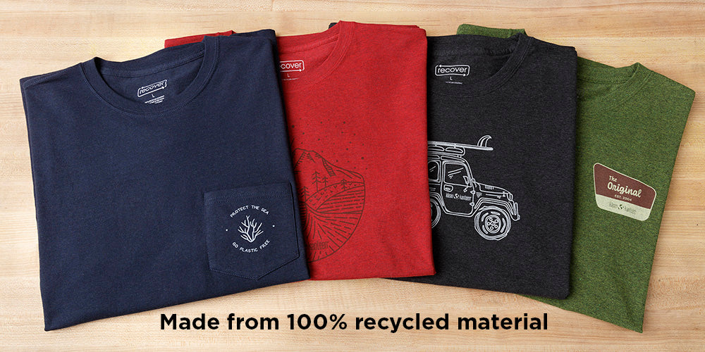 Klean T-Shirts 100% Recycled Materials
