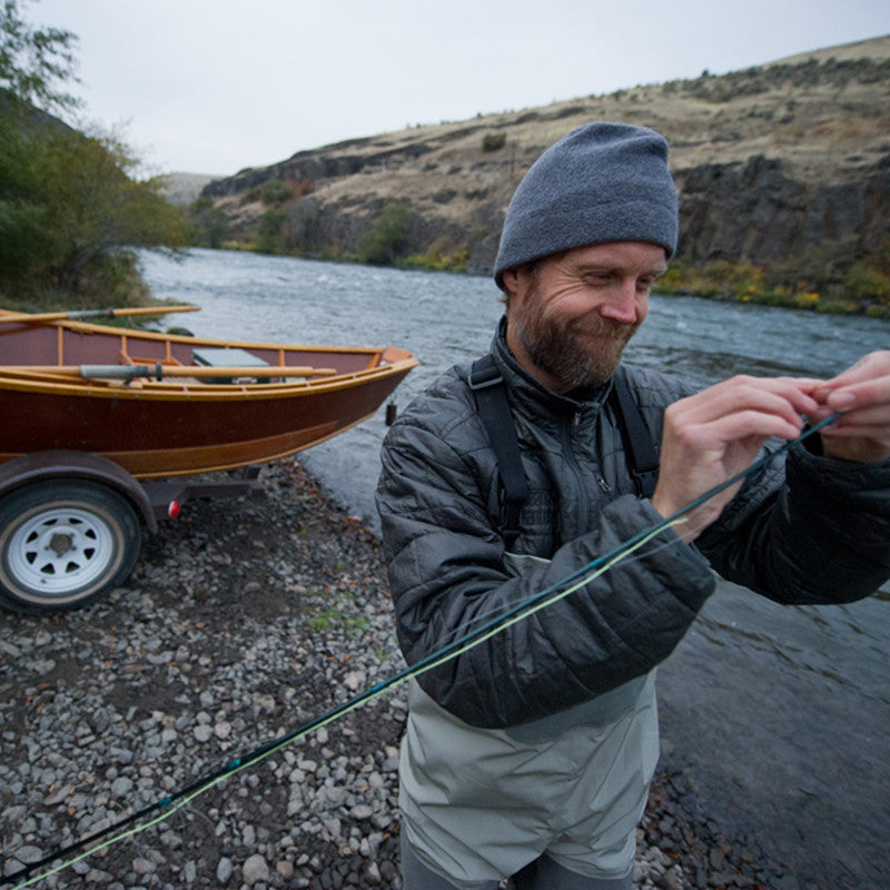 Klean Co-Owner Jeff Cresswell fly fishing