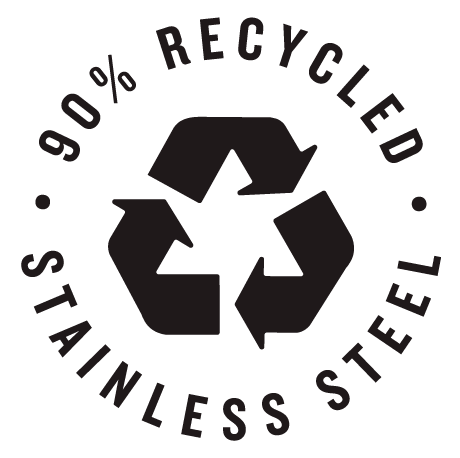 90% Recycled Steel