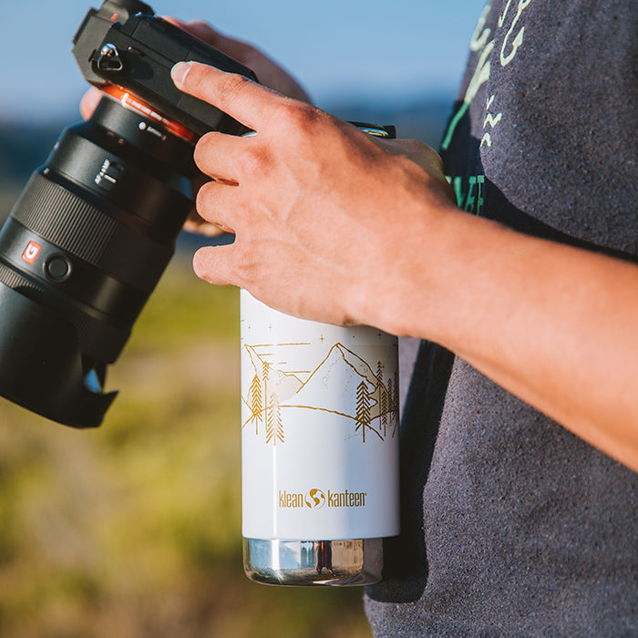 Mountain Graphic Water Bottle
