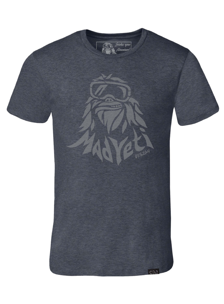Deconstructed Yeti T-Shirt- grey/charcoal