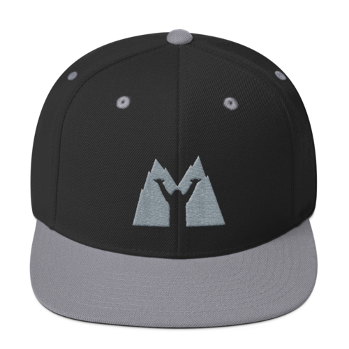 Shaka Mad Icon Mountain Snapback- grey/black