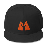 Shaka Mad Icon Mountain Snapback- orange/black