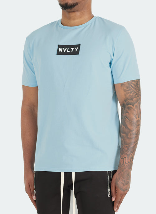 Logo Patch T-Shirt - Baby Blue