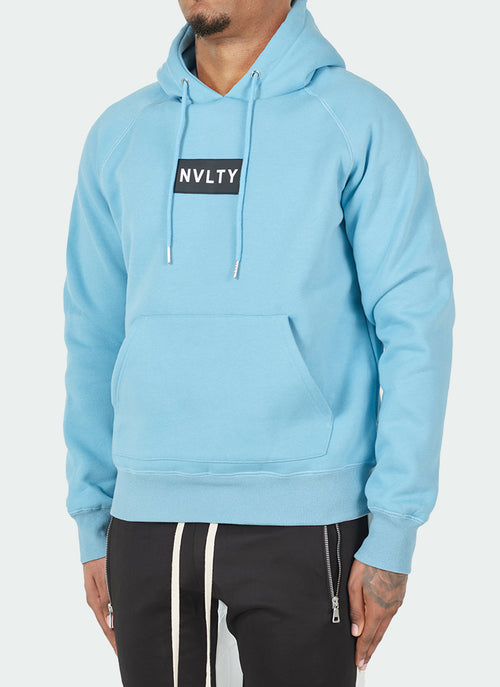 Logo Patch Hoodie - Baby Blue