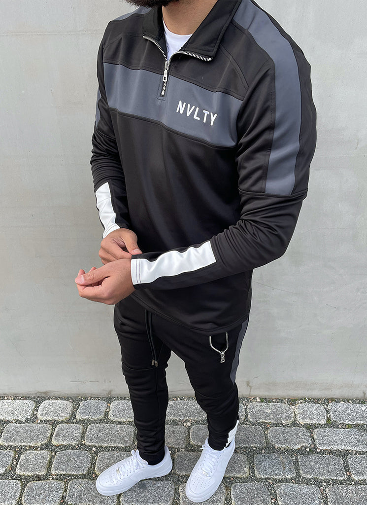 Team Track Top - Black/Charcoal Grey