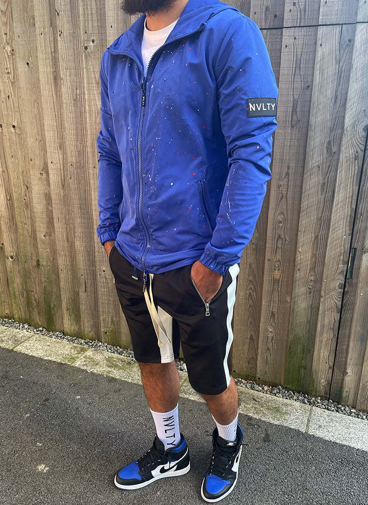Paint Windbreaker - Royal Blue