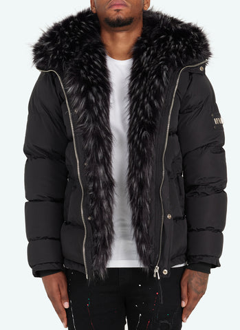 Fur Jacket - Navy