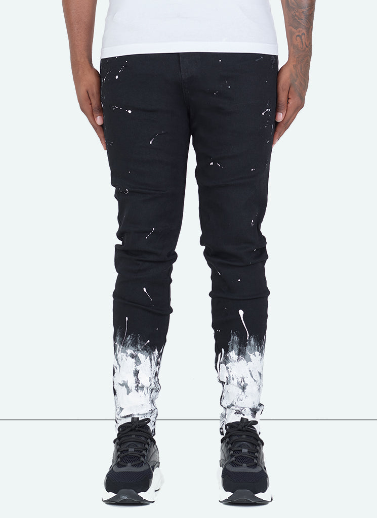 Gradient Paint Jeans - Black
