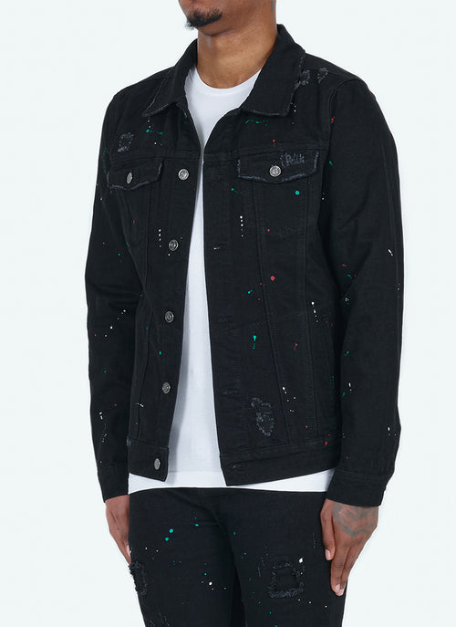 Paint Denim Jacket - Black