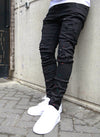 Patchwork Paint Jeans - Black