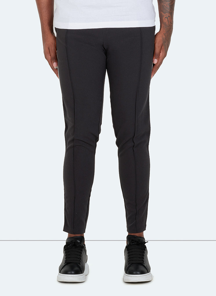 Panelled Pipe Trousers - Black/White