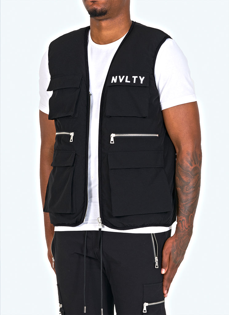 Tactical Puffer Gilet - Black