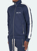 Panelled Track Jacket - Navy/White