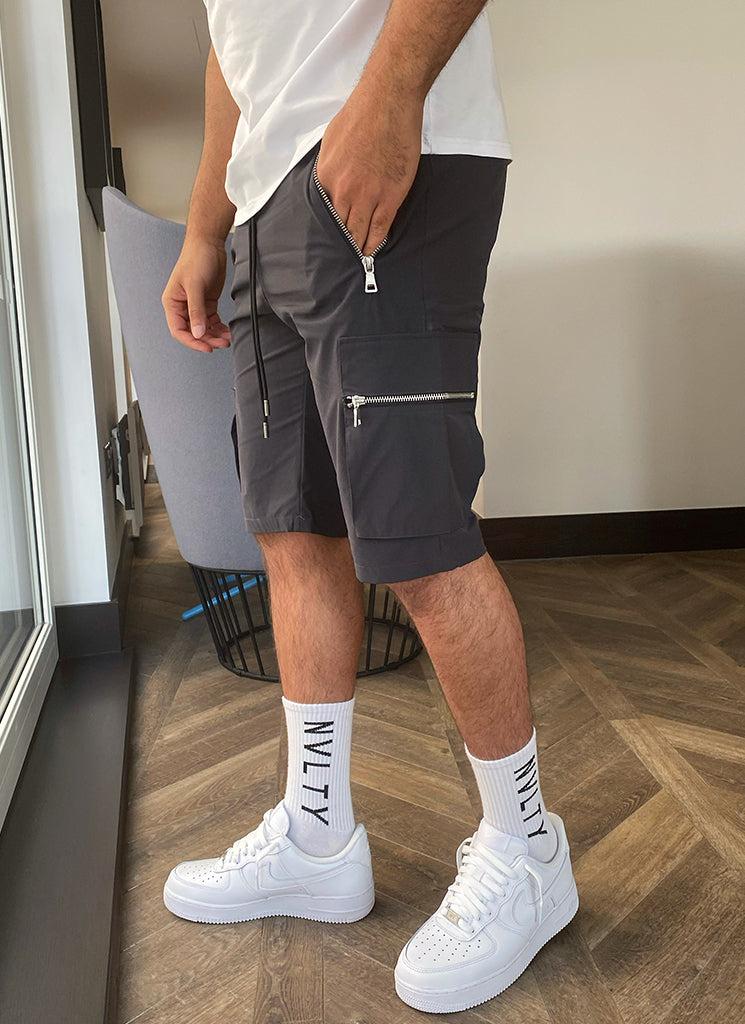 Tactical Track Shorts - Charcoal Grey