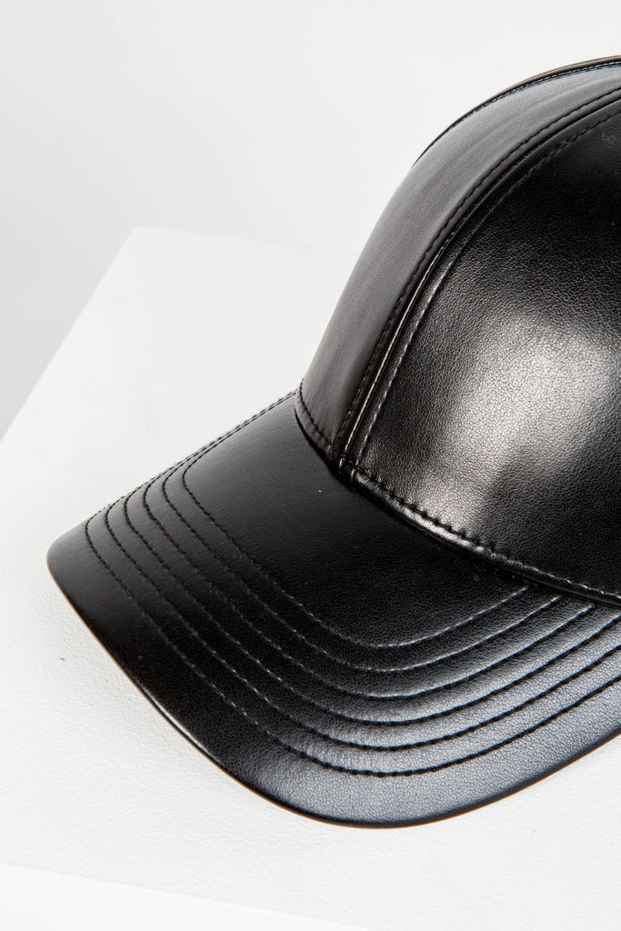 Leather Cap - Black