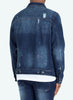 Paint Denim Jacket - Dark Blue