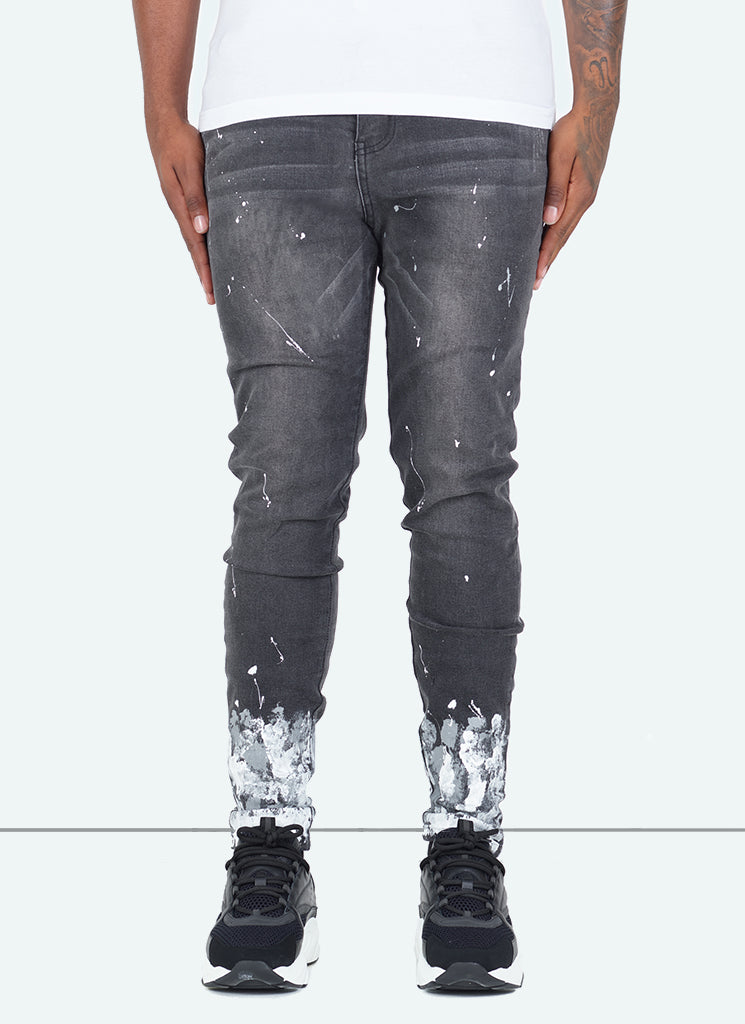 Gradient Paint Jeans - Grey