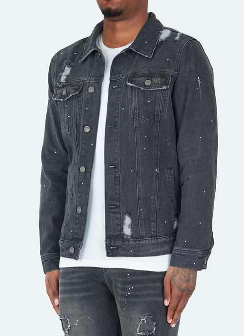 Paint Denim Jacket - Grey