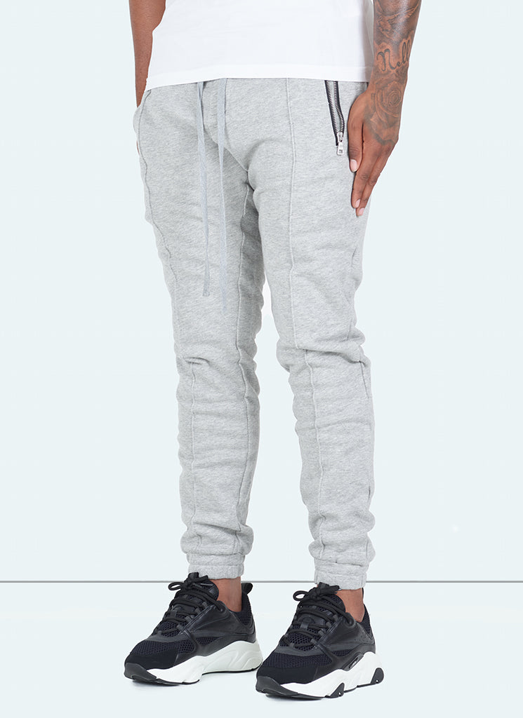 Pleated Track Pants - Grey
