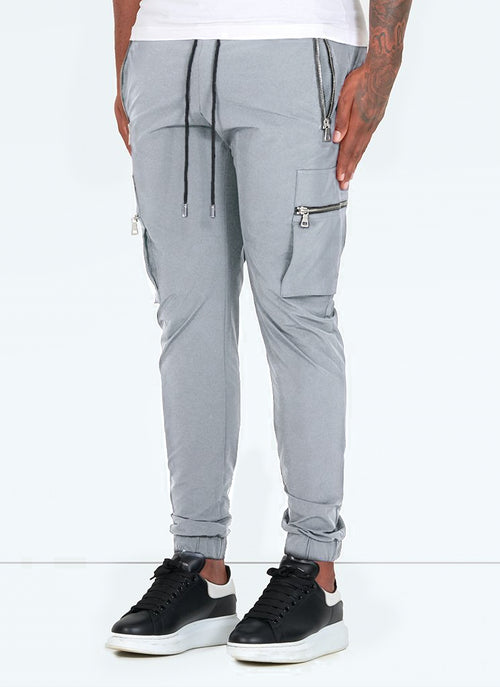 Tactical Track Pants - Light Grey
