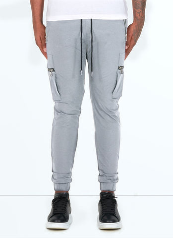 Panelled Track Pants - Red/White