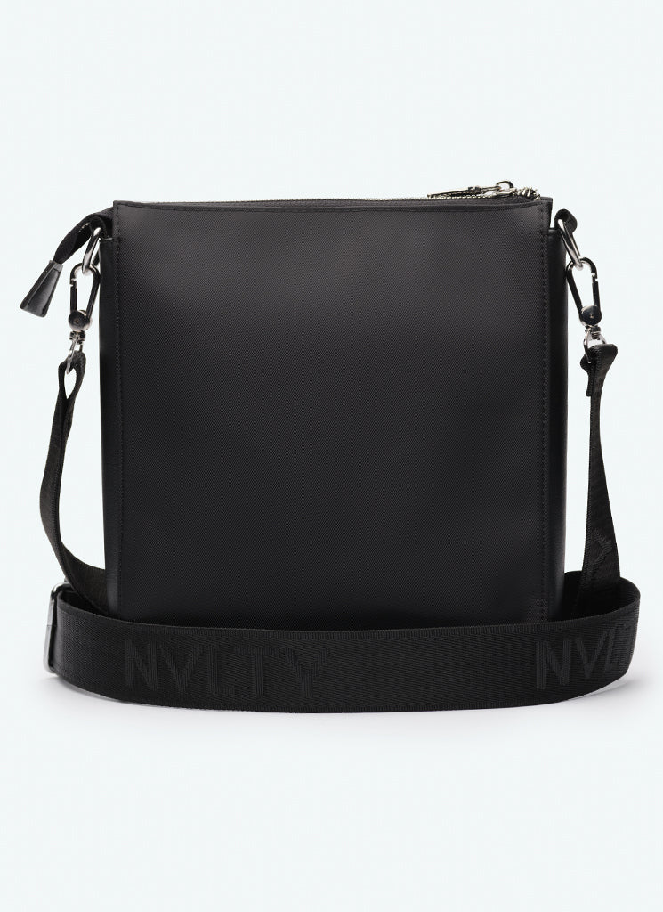 Logo Messenger Bag - Black