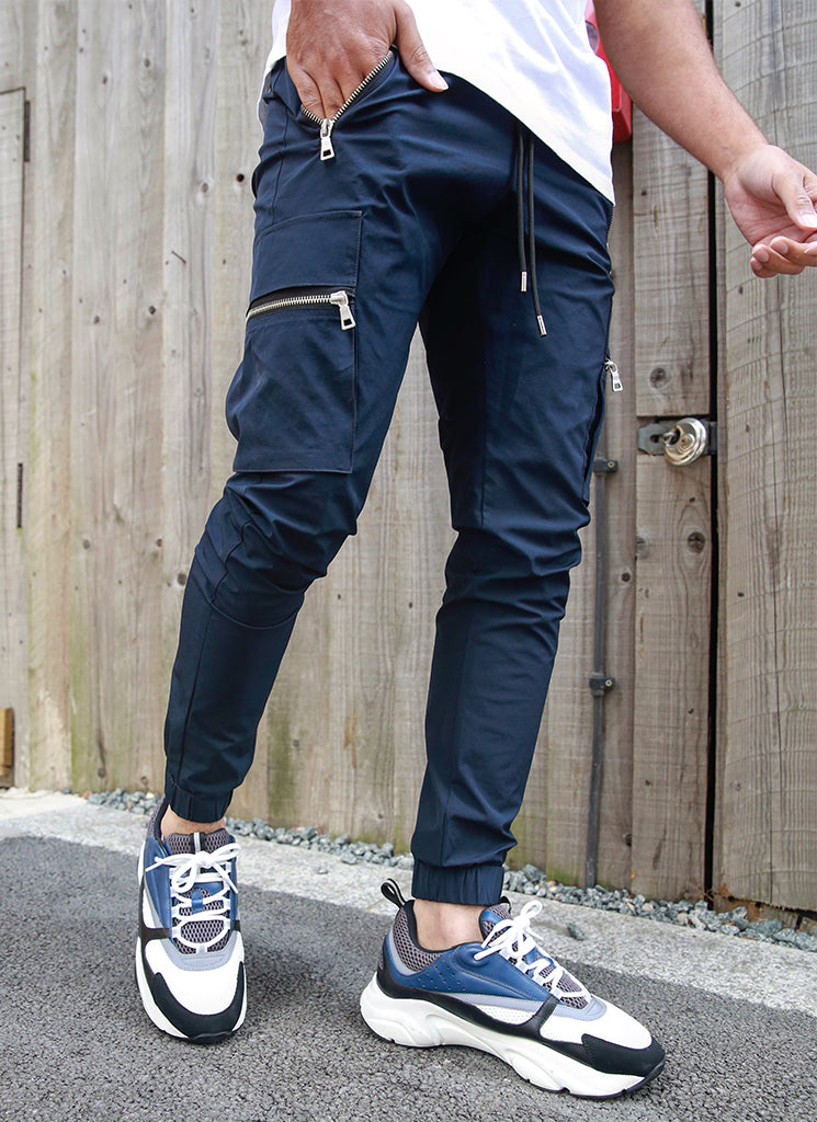 Tactical Track Pants - Navy
