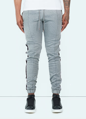 Panelled Track Pants - Black/Red