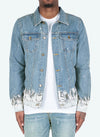 Gradient Paint Denim Jacket - Sand Blue