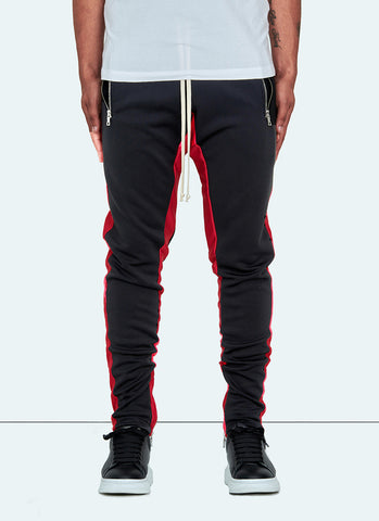 Panelled Pipe Track Pants - Navy/Black