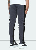 Panelled Track Pants - Charcoal Grey/Black