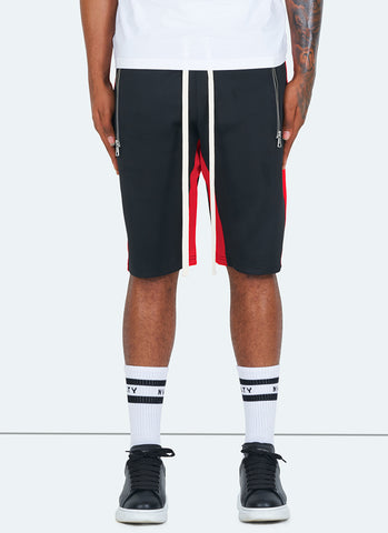 Panelled Track Shorts - Navy/White