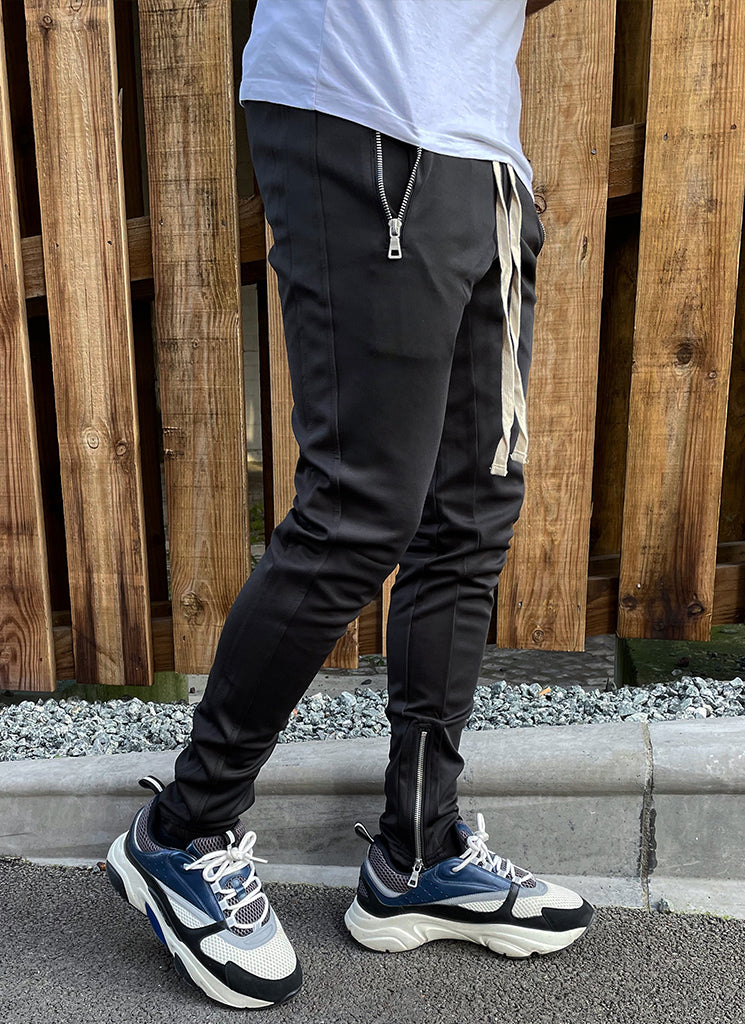 Panelled Track Pants - Triple Black