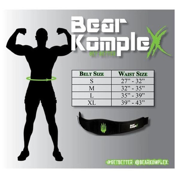 Bear KompleX Apex Premium Leather Velcro Weight Lifting Belt