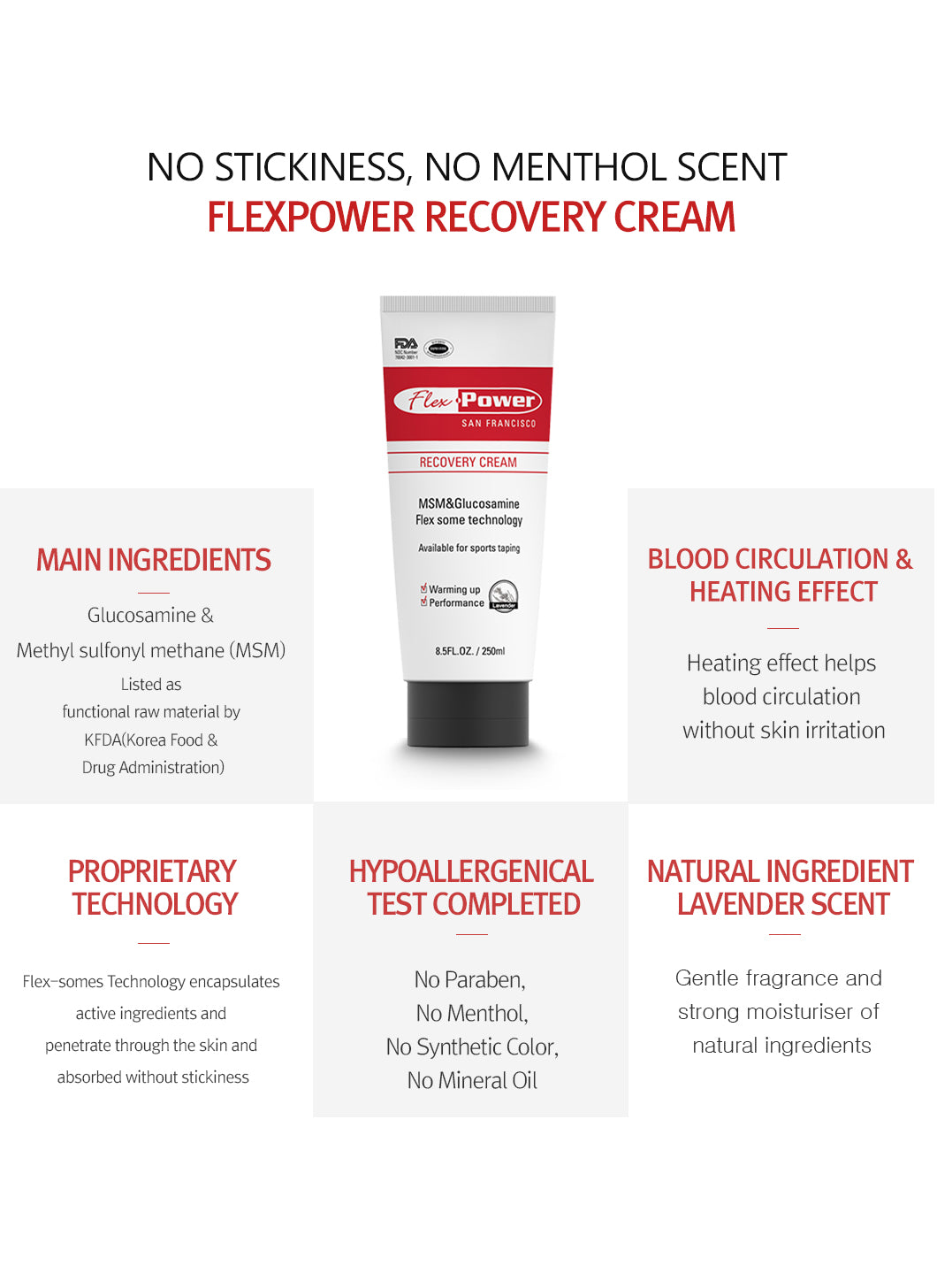 Flex Power Recovery Cream 10 x 2mL