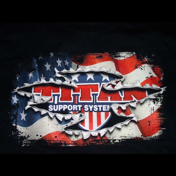Titan T-Shirt - Torn Flag Design