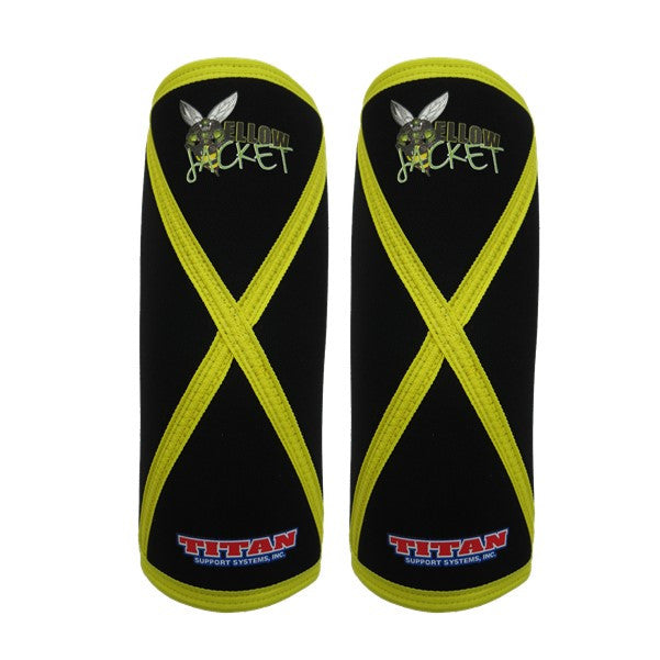Titan Yellow Jacket Knee Sleeves - Black/Yellow