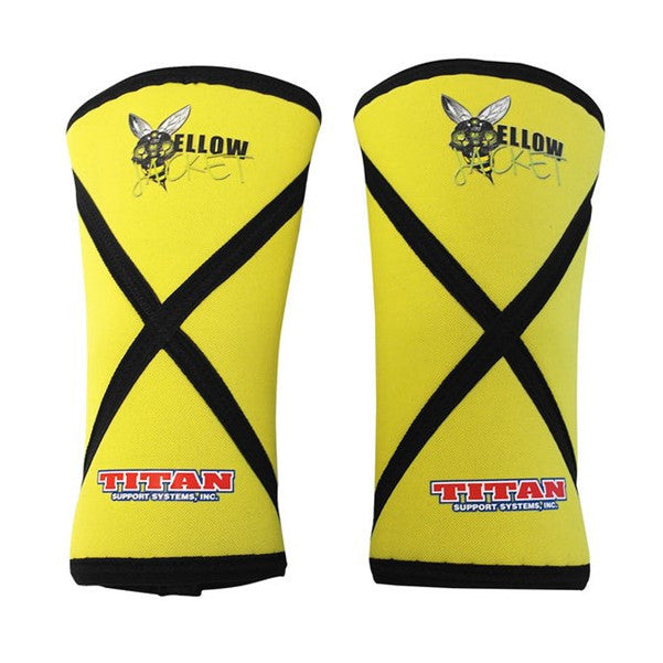 Titan Yellow Jacket Knee Sleeves - Yellow/Black