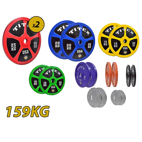 Titex Calibrated Plates Set - 159Kg