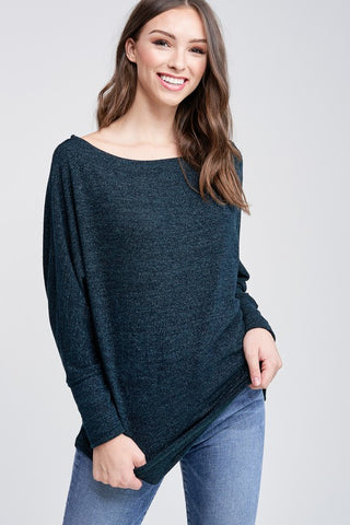 Green Boatneck Sweater