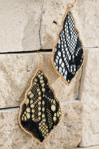 Glitter Dangle Earrings