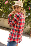 Fleece Lined Flannel Red