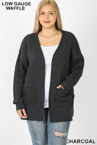 Warm and Cozy Sweater in Charcoal CURVY