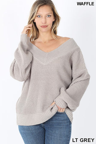 Off The Shoulder Sweater Grey