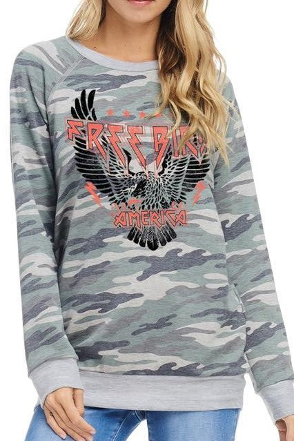Free Bird Graphic Sweatshirt