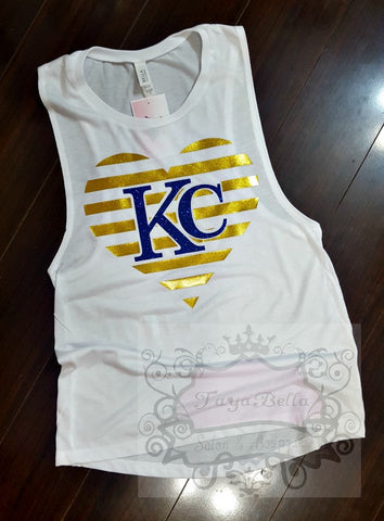 Blue KC Muscle Tank