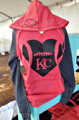 Football Heart Sweatshirt